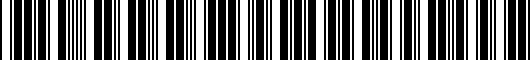 Barcode for 5G00714958Z8
