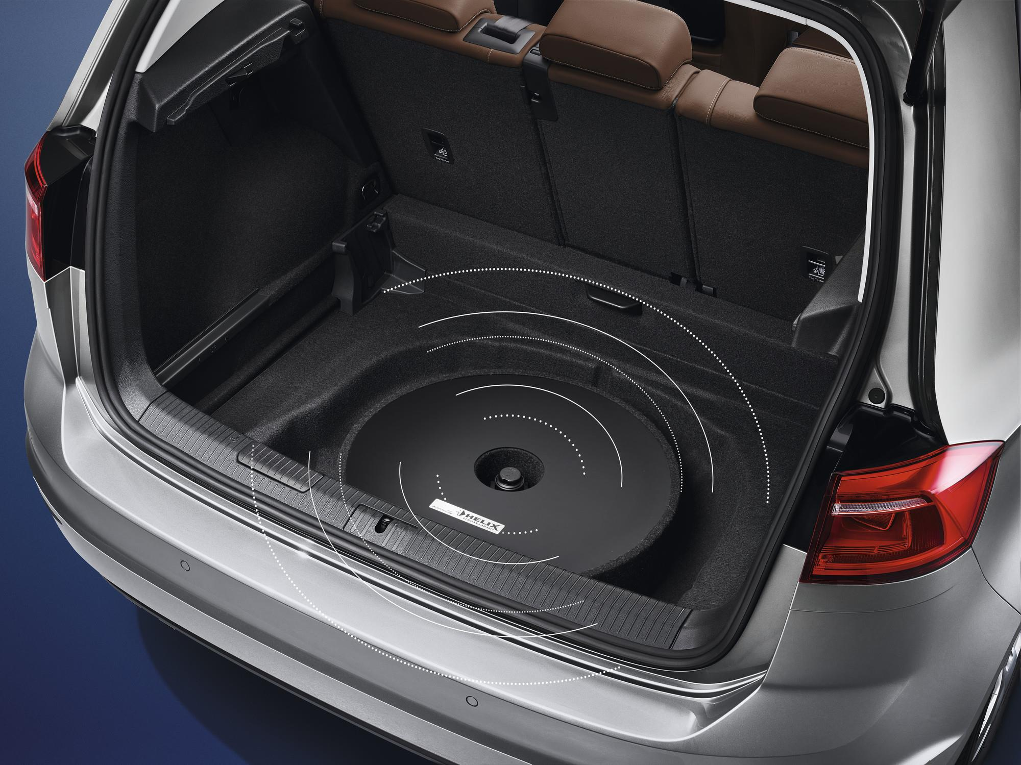 2012 Volkswagen Golf Spare Tire Mount Subwoofer Soundbox