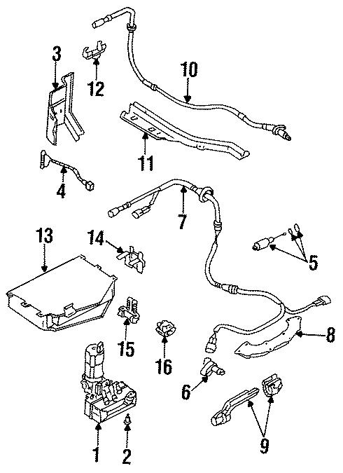 volkswagen beetle glx   abs unit pump control wtraction components ja