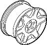 1KD601025B16Z - Volkswagen Wheel, alloy. Double, Spoke, TRIM | Volkswagen, North Attleboro MA